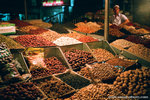 night time at some nuts vender.