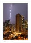 Lightning at building