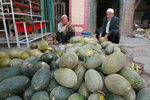 melon vendors at the Kashgar market - a highlight of this trip