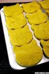 My homemade green tea cookies in cat shape