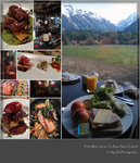 breakfast at motel, lunch at high country salmon farm, hare dinner at Te Anau