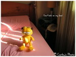 garfield on my bed