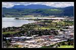 overview of rotorua from mount ngongotha lookout