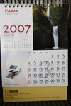 Canon calendar 2007