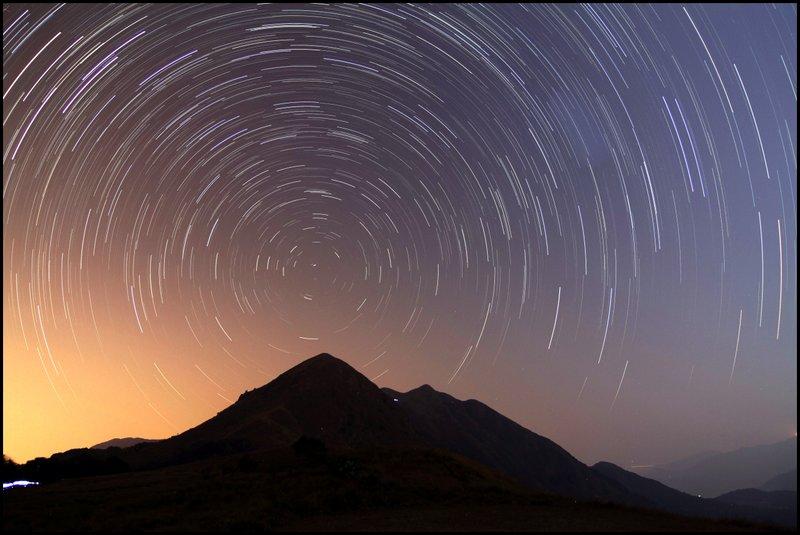 Star Trail & Sunrise Startrails2