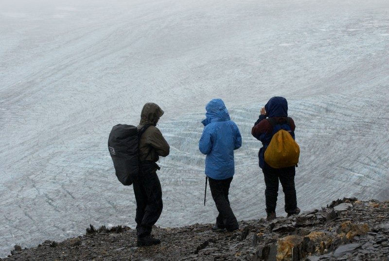 Trekking in Exit Glacier