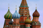 St. Basil's Cathedral was completed in 1561, to celebrate the capture of the Mongol strong-hold of Kazan.