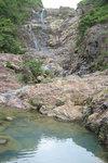 千絲瀑, with a dam transfering water to High Island Reservior.