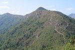 Passed the Hung Shek Mun Au 紅石門坳, looking back at Kwun Tam Tung 觀音峒.