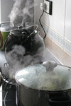 Steam in the kitchen 炊煙, my home, 18/1/2008.