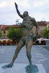 Sculpture of Satyr on Butcher's Bridge. The work of Jakov Brdar