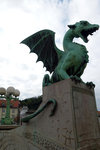 There is a legend that Jason was the founder of Ljubljana, and he and his Argonauts killed a dragon, which is one of the 4 on the bridge