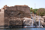 Elephantine Island, largest of the Aswan islands in the middle of the Nile.