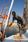 Unmooring the boat