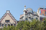 Casa Batllo,the roof is based on St. George an the dragon