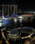 Marina Bay Sands & Esplanade (Lasers like clockwork) ���F�s���M�خ����N����