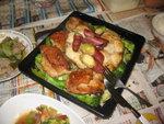 西蘭花焗雞扒配日式番薯