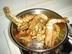 香草蒜蓉煎老虎蝦