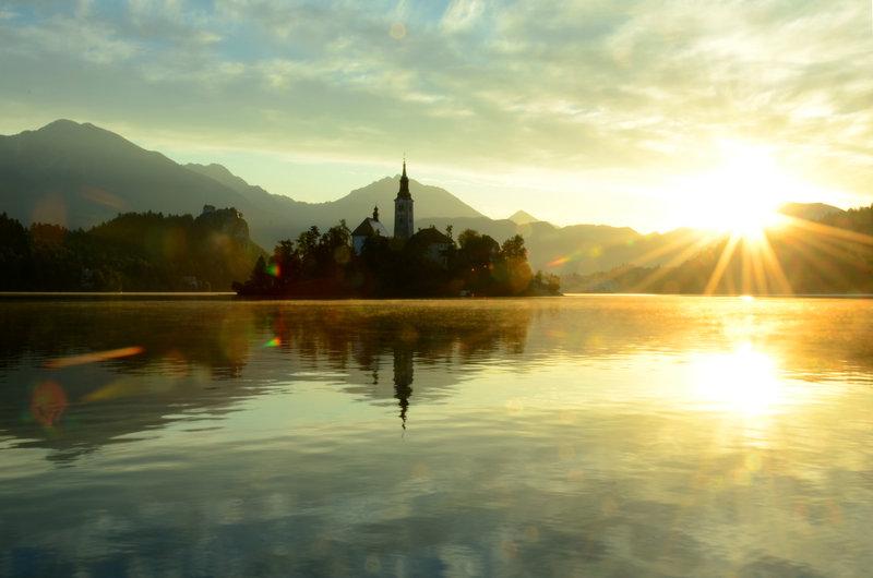 Bled Lake Slovenia Sunrise