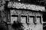 隨處可見滿佈彈孔的建築物,好像已成為到薩拉熱窩旅遊的一個景點