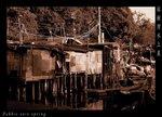 近索罟灣碼頭的水上屋