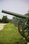 遺留的大炮等仍放在公園內