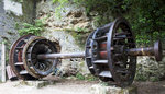 水力發電站遺留下的齒輪