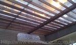 玻璃屋底加木架