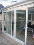 沙角尾村天台搭建白色玻璃屋