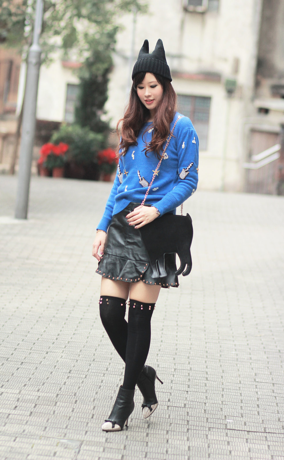 leather skirt, yesstyle
