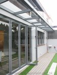 元朗峰景豪園鋁窗玻璃趟摺門 (2)