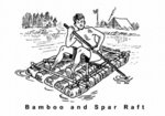 bamboo and spar raft 