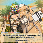 Larry Wall, Camel and Camelia - Programming Joke