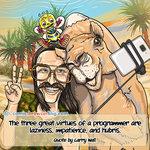 Larry Wall, Camel and Camelia - Programming Joke