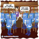 So Eight Bytes Walk Into A Bar - Programming Joke