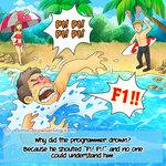 Drowning Coder - Programming Joke