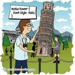 Pisa Tower CSS - Web Designer Joke