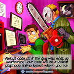 Psychopathic Code Maintainer - Programming Joke