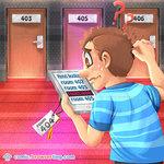 Web Developer and Room 404 - Programming Joke