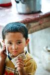 an innocent kid who just loves money.