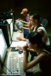 and we finished the night at an internet cafe.  that was the first internet cafe I went to in Xinjiang.