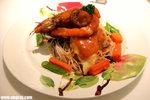 扒海鮮天使麵配龍蝦汁(HK$72)﹕龍蝦汁味道夠濃,而用料亦比我想像中豐富,不錯呢﹗