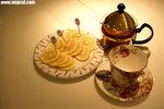 我點了熱檸檬茶,想不到餐具如此優雅精美,而且份量還足足有兩杯之多,讚﹗