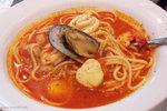 我幾乎每次到UCC都是吃這個 — 茄汁海鮮湯意粉﹗帶濃濃鮮茄香味的湯汁,令我吃後精神為之一振,而且整個人暖暖的 ^_^