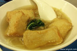 這個魚片頭米 (HK$18) 是我暫時吃過最好吃的﹗片頭咬感十足,而且炸至金黃色,簡直令人食指大動﹗這個片頭絕對比「潮興」和「德昌」出色﹗