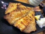 燒赤魚一夜干,魚本身的油份不高,味道也較淡,一夜干的做法可能不太適合