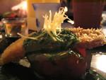 香煎若狹魚配菠菜汁