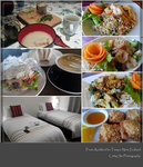 homemade breakfast, lunch at Hobbiton cafe, dinner at Thai Cuisine in Lake Taupo