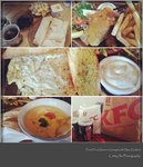homemade breakfast, lunch at fox glacier cafe, KFC dinner in Greymouth