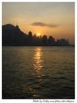 尖沙嘴碼頭望向香港島嘅黃昏